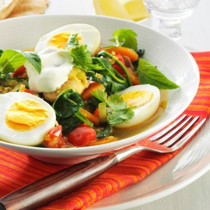 Chicken and egg tagine