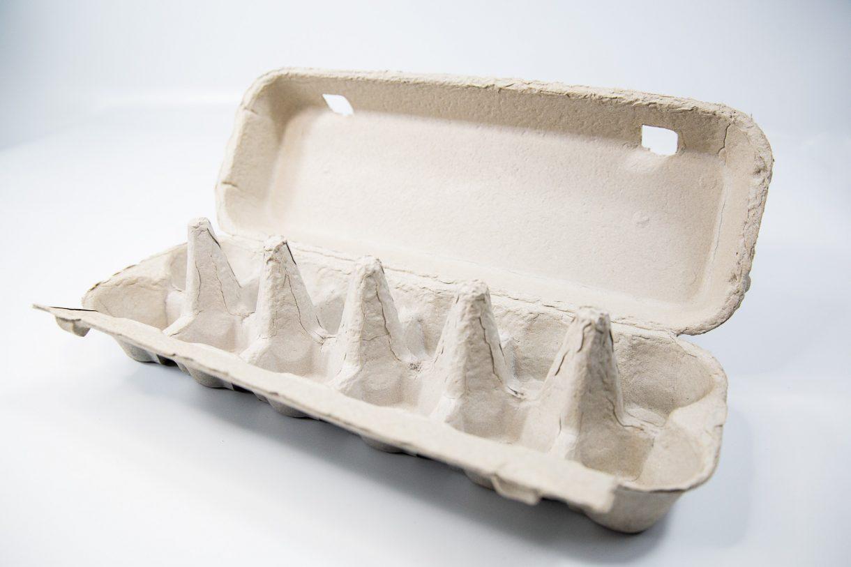 open egg carton gray card suitable for 12 eggs produced by Carton Packaging